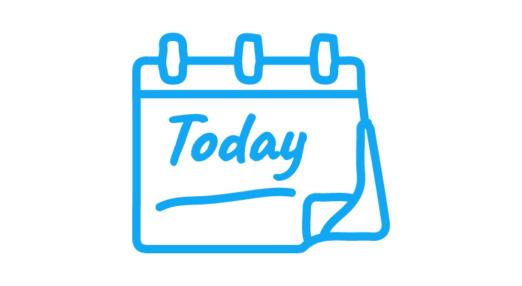 Today written on a calendar